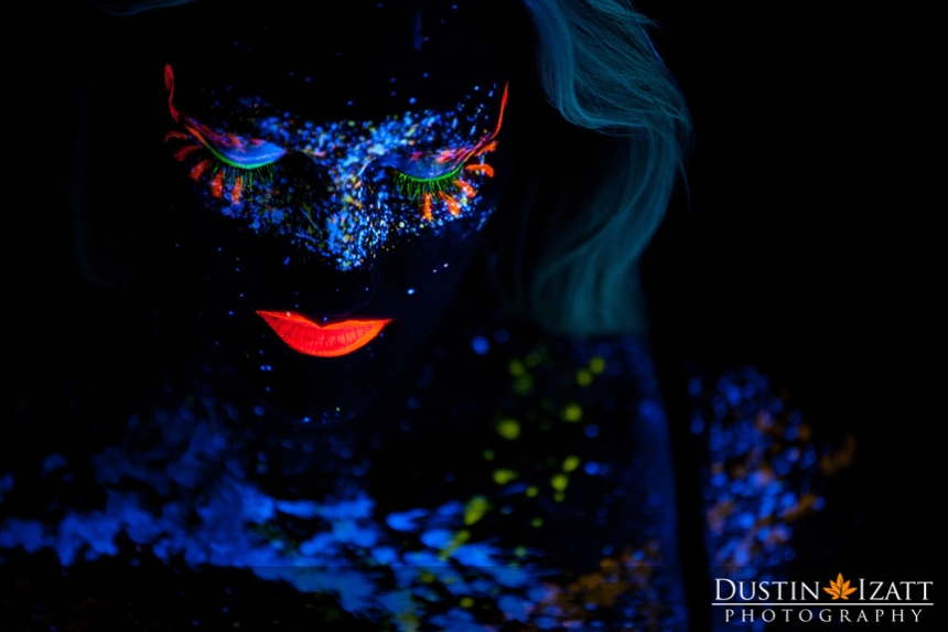 Black Light Glow Photography by Photographer Dustin Izatt
