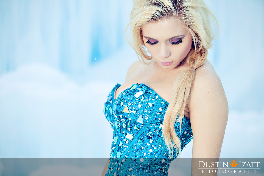 Midway Ice Castles Frozen Princess Theme Photography