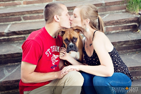 Utah Engagement Photography with dog puppy