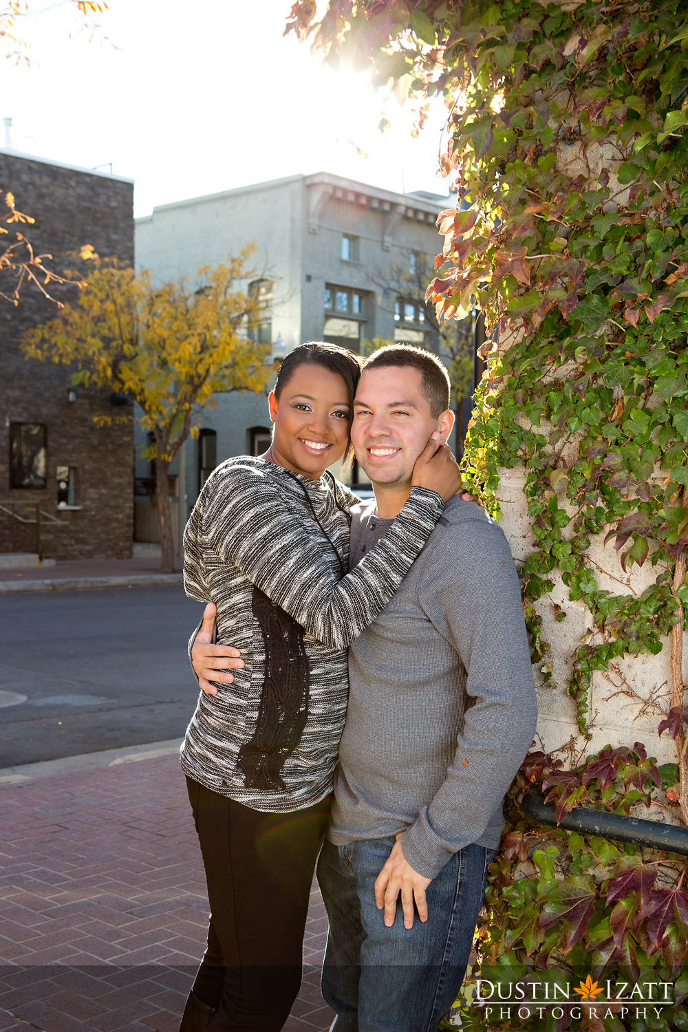 Utah engagement photography pierpont ave urban slc